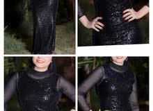 فستان اسود شيك