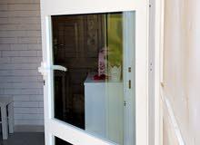 باب المنيوم ابيض زجاج لللبيع