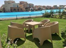 شاليه للبيع 122م في مراسـي marassi north coast - بالتكيفات lagoon view