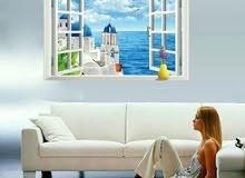 ملصق 3D مشهد الأزرق بحر من الحب diy ملصقات الحائط غرفة المعيشة غرفة الزفاف