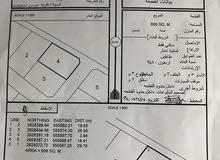 أرض سكنية للبيع في ودام الغاف  مساحتها 608 قريبة من الشارع العام