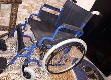 كرسي متحرك للمقعدين عدد 2 جديد بسعر مغري