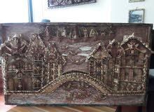 لوحات نحتية خشبية زغرفة