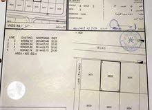 للبيع ارض سكنية في المعبيلة الثامنة قريبة من الجسر و محطة نفط عمان الجديدة