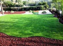 مطلوب فني تركيب عشب صناعي وتنسيق حدائق