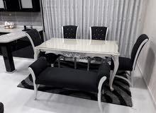 طاولات السفرة وغرف الطعام خشب زان دهان بوليستر