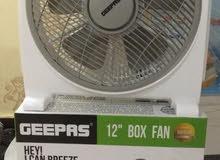 """Fan- Geepas Box 12""""/3 speed/ 60 Min"""