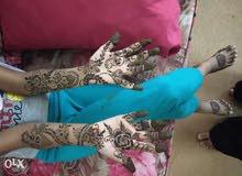 Making henna design all models Arabic Hindhi khaleeje and omani Design