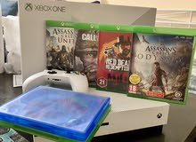 Xbox one s 1 TB 4K with 6 games and 1joystick , fantastic condition , whatsapp me for more info