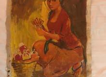 لوحة فنية قديمة جدا لرسام ايطالي بحالة جيدة جدا