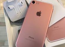 للبيع ايفون 7 جديد اللون روز جولد 128 جيبي لم يستخدم (مغلف)