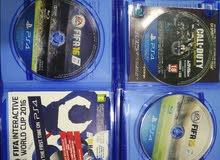 العاب ps4 للبيع دفعة واحدة بحالة ممتازة +CALLOFDUTY FIFA16 + FIFA15