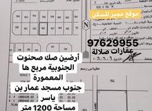 أرضين صك للبيع صحنوت الجنوبية المعمورة جنوب مسجد عمار بن ياسر