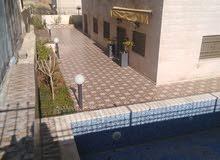 شقة شبه ارضيه 408 م2 في الجبيهة / مع ترس كبير وبركة سباحة مجهزة
