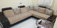ركنة بحالة جيدة L shape sofa