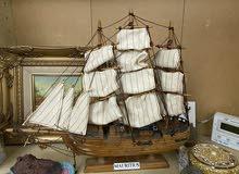 مجسم سفينة خشبي