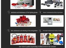 تركيب وصيانة نظم الأنذار من الحريق ونظم مكافحة الحريق  Fire alarm systems and fire fighting systems