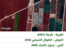 • قطع أراضي للبيع في الرمثا - حوض الطوال الشرقي - سعر مغري.