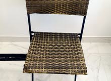 Bamboo-like table and chair suitable for balcony and outdoors table area 69x69cm