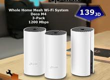نظام Wi-Fi Mesh موديل Deco M4 3-Pack نوع Tp-Link