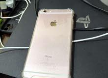 للبيع ايفون 6 s بلس البطارية 100 بدون اغراضه الجهاز مع كفر