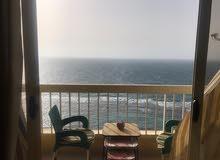 شقة 125متر للبيع بالاسكندرية ميامى صف اول على البحر بانوراما كلها على البحر