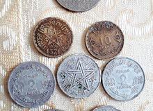 عملات نقدية قديمة تاريخية مغربية