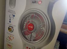 table fan rechargeable-less used - origianal price 295 selling priuce 150 - meena bazar bur dubai