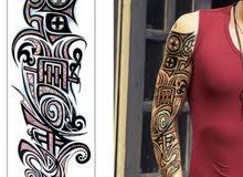 أكمام قماش وشم عصري للشتاء للجنسين - Stylish tattoo sleeves for winter unisex