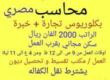 مطلوب محاسب مصري