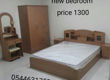 غرفة نوم وغرفة جلوس وغرفة الطعام