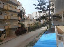 شقة بالطابق الاول علوي بجوار شارع رئيسي 115 متر مسجلة في شاطئ النخيل