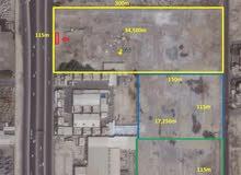 للبيع ارض بالامكان بناء برج او فندق 34500م