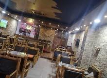 مطعم و كافي شارع 100 سيدو بارك مقابل الامباير مجهز كامل مع المعدات للمطبخ