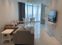 للإيجار شقة غرفتين نوم مع 2حمام و صالة ومخزن ومطبخ مفروشة بالكامل في منطقة السيف