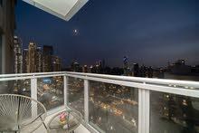دبي داون تاون غرفة وصالة مفروشة سوبر لوكس مع بلكونه إيجار شهري شامل 8500+تامين+عمولة