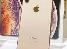 ايفونxs max ذهبي جديد ذاكره512 بطاريه100