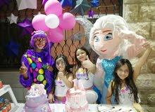 تنظيم أعياد ميلاد وحفلات أطفال شخصيات كرتونيه