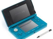 للبيع نينتندو 3DS لون ازرق مع لعبة مميزة