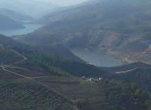 للبيع قطع اراظي مطله أطلاله خلالبه على السد الملك طلال وجبال فلسطين وجبال عجلون