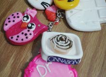 handmade porcelain clay keychains &bags acesseries