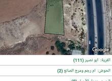 ارض للبيع في شمال عمان على طريق شارع الأردن في منطقة ابو نصير