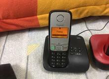 للبيع عدد 2 تليفون لاسلكى فوق الممتاز وبطارياتهم شبه جديده