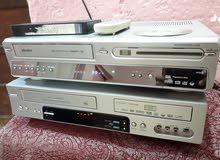 اجهزة فيديو كاسيت و DVD مشتركة عرض وتسجيل واستنساخ للكاسيت وللقرص مع الريمونت