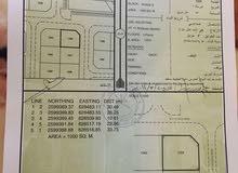 ارض صناعيه للبيع مساحة 1000 متر