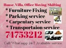 Moving/Shifting Carpenter Packing Need Call/What'sapp: 74753212