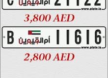 UAQ plate numbers