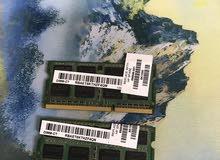 رام لابتوب 4G DDR3 عدد 2