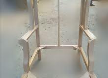 كرسي رجل معلقه خشب زان نجارة عالية الجودة