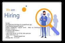 web application developer & crossplatforms app